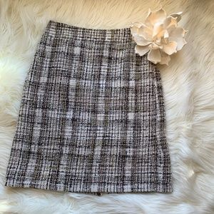 J Crew Tweed Pencil Skirt Size 6